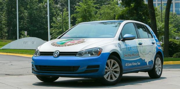 VW Golf 48 state world record