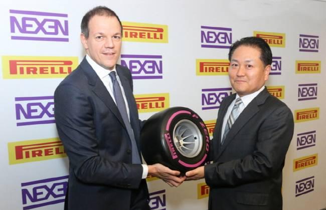 Главный операционный директор компании Pirelli LatAm Клаудио Пассерини и директор Nexen Tire Джек О