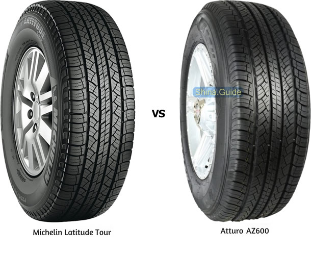 Michelin Latitude Tour vs Atturo AZ600