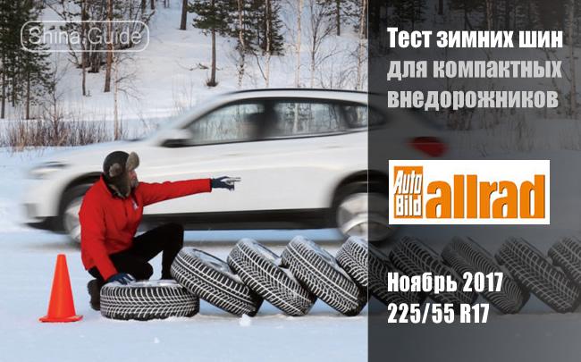 Auto Bild Allrad 2017: Тест зимних шин размера 225/55 R17 для компактных внедорожников