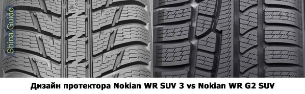 Дизайн протектора Nokian WR SUV 3 и её предшественницы