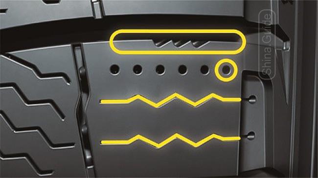 Ответственные за сцепление на льду конструктивные элементы блоков протектора